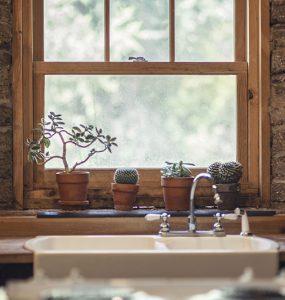 Fenêtre double vitrage en bois