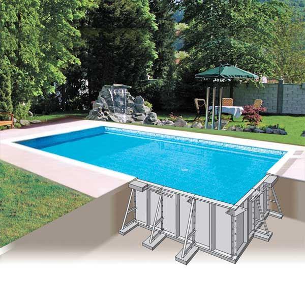 Prix moyen d 39 une piscine de sa pose ou sa construction - Piscine enterree coque ...