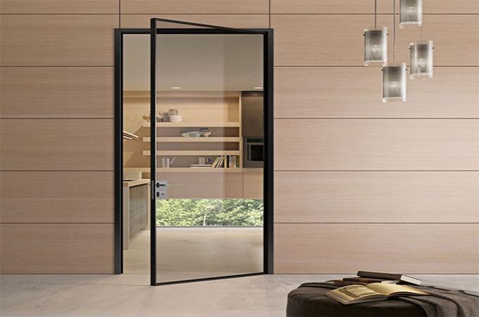 Porte d'intérieur en verre