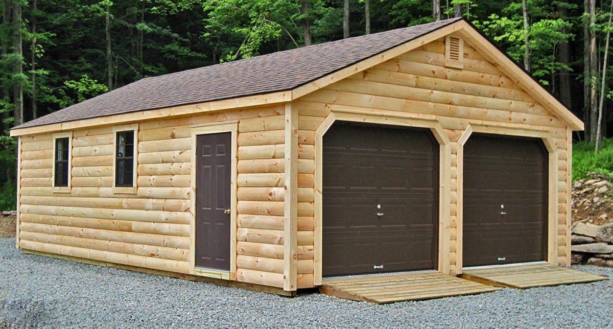 Garage préfabriqué bois