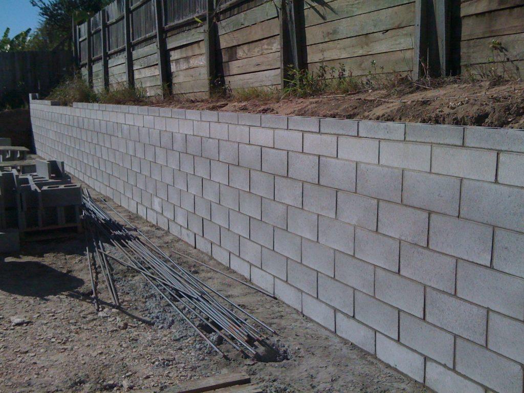 Mur soutènement parpaing