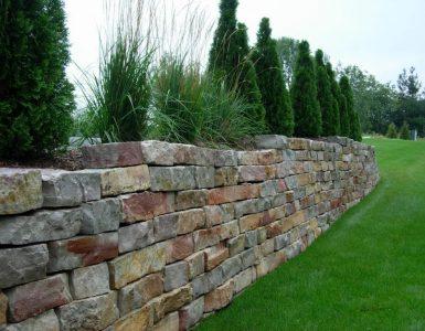 Mur soutènement pierre