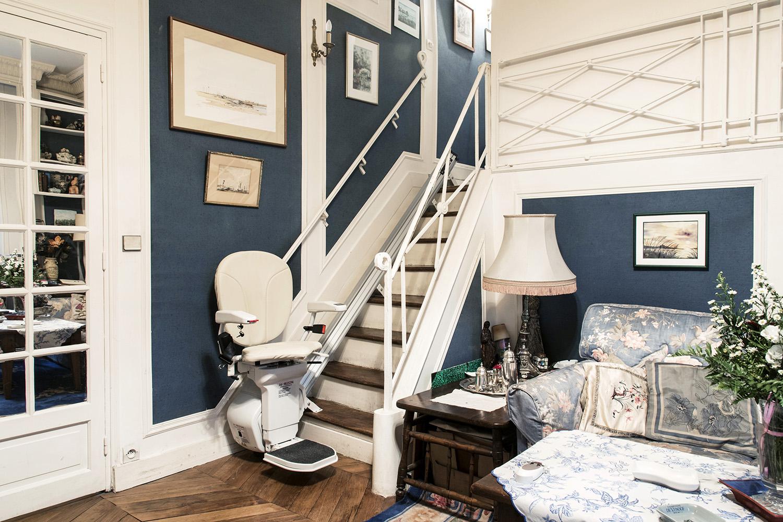 Monte-escalier droit