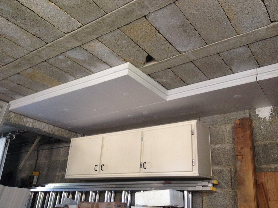 Isolation plafond garage